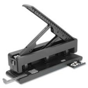 Hole Punch, 2-3 Holes, 40 Sh Capacity, Black, Sold as 1 Each