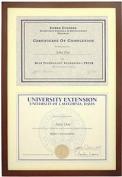 Dark-Walnut Wood Stacked Double 11x8.50 Certificate frame by Dennis Daniels® - 8.5x11