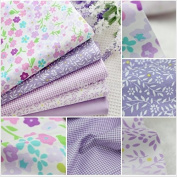 5pcs Purple Lavender Cotton Fabric for Sewing Patchwork Fabric. Ship From New York