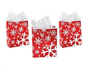 Red & White Snowflake Gift Bags