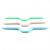 TOOGOO(R) 5Sets Of 3 Mix Colours Plastic Cable Stitch Knitting Holders Needles New 10.9cm 9.9cm 9.3cm