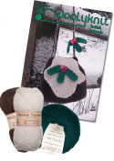 Christmas Pudding Bag Knitting Bundle Pack. Knitting Pattern and Wool Provided Is Enough to Make One Bag