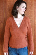 Knitting Pure & Simple Knitting Pattern 263 Womens NeckDown Wrap Cardigan