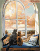 Enjoy the View - Cats Counted Cross Stitch Kit