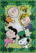 Peanuts Gang St. Patrick's Day Counted Cross Stitch Pattern