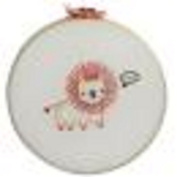 Penguin & Fish Lion Round Stitched Embroidery Kit, 20cm