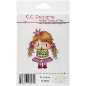 C.C. Designs Pollycraft Cling Princess Stamp, 7cm x 5.1cm