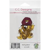 C.C. Designs Doodle Dragon Sticky Bear Cling Stamp, 5.7cm x 7cm