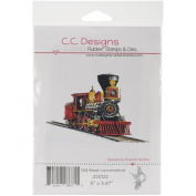 C.C. Designs DoveArt Old West Locomotive Cling Stamp, 13cm x 8.9cm