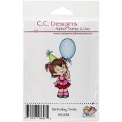 C.C. Designs Roberto's Amigas Cling Birthday Twila Stamp, 10cm x 5.1cm