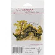 C.C. Designs DoveArt Covered Bridge Cling Stamp, 12cm x 7.6cm
