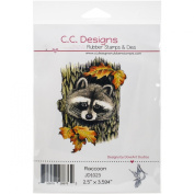 C.C. Designs DoveArt Raccoon Cling Stamp, 6.4cm x 8.9cm