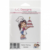 C.C. Designs Roberto's Amigas Cling Baker Nancy Stamp, 9.5cm x 7.6cm