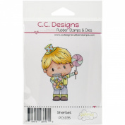 C.C. Designs Pollycraft Cling Sherbet Stamp, 7cm x 5.1cm