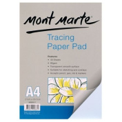 Mont Marte Tracing Paper Pad 60Gsm 40 Sheet A4 -Popular With Tattooist Sketching
