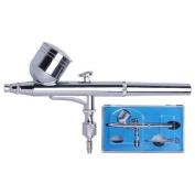 Dual-Action Gravity Feed Airbrush 0.3mm Airbrush Gun Kit