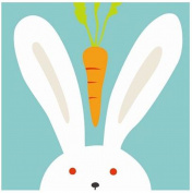 Diy oil painting, paint by number kits for kids - Rabbit 20cm x 20cm .