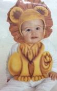 Baby Lion Bonnet & Bib Costume - Newborn-9 Months