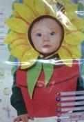 Baby Sunflower Bonnet & Bib Costume - Newborn-9 Months