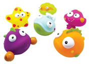 Nowali 2403 Konfetti Ocean Animal Bath Squirters, Set of 6
