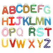Rorychen Alphabet 26 Capital Letters Fridge Magnet Wooden & Magnetic Stickers Baby Educational Toy