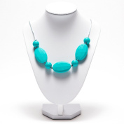 Aishine Silicone Teething Necklace for Mom to Wear Baby safe BPA-Free Faceted Beads