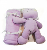 Prestige Purple Stuffed Hippo Puddle and Baby Blanket