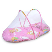 CdyBox Baby Infant Folding Mosquito Net Tent with Pillow Portable Travel Kids Sleeping Bed