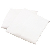 aBaby Crib/Toddler Flat and Fitted Sheet, White