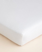 Hudson Park Collection Fitted Baby Crib Sheet - Petal
