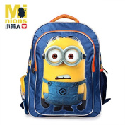 Kids 3d Cartoon Backpack Despicable Me 2 Minion Boys Girls School Bag Student Cute Canvas Bags Waterproof Breathable