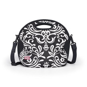 BUILT NY Spicy Relish Designer Neoprene Lunch Tote, Black and White Damask (LB12-DBW) Colour