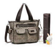 Colorland Aristocratic Tote Nappy Bag Palace Flowers Khaki