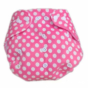 Baby Printed Soft Cloth Nappy Nappy Reusable Nappy Adjusted Snap Inserts Cover Pink Point