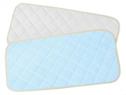 Bamboo Changing Pad Liners Waterproof Washable ♦ Protector For Nappy Change Pad ♦ Travel Changing Mat ♦ 2 pieces ♦
