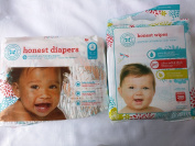 Honest Company Baby Nappies - Balloons - Size 4 & 288 Ct Natural Cloth Wipes