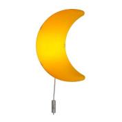 SMILA MÅNE Wall lamp, yellow