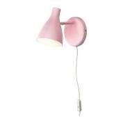 SNÖIG Wall lamp, pink