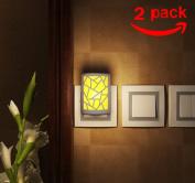 SZMINILED 2pcs 3-in-1 LED Night Lights Motion Sensor Night Light US Plug OFF/PHOTO/AUTO Wall Light for bedroom Stairs Decoration