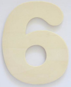 Craft Wooden Wood Number 6 Wedding Party Home Decor DIY