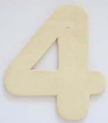 Craft Wooden Wood Number 4 Wedding Party Home Decor DIY