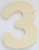 Craft Wooden Wood Number 3 Wedding Party Home Decor DIY