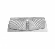 TdZ Crystal Studded Ruched Satin Top Party Clutch 25cm w/Strap