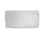 TdZ Brilliant Glitter Cutwork Overlay Large Envelope Party Clutch 30cm w/Strap
