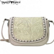 Montana West Trinity Ranch Tooled Design Handbag-Beige