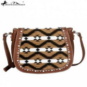 Montana West Aztec Collection Messenger Purse-Brown