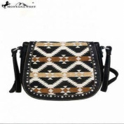 Montana West Aztec Collection Messenger Purse-Black