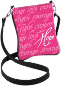 Snaptotes Pink Breast Cancer Inspirational Words Hipster Crossbody Bag