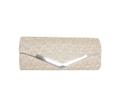 TdZ Fancy Satin & Lace Style Evening Party Clutch 25cm w/Strap