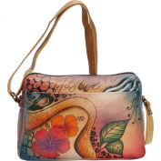 ANNA by Anuschka Hand Painted Medium Satchel Organiser